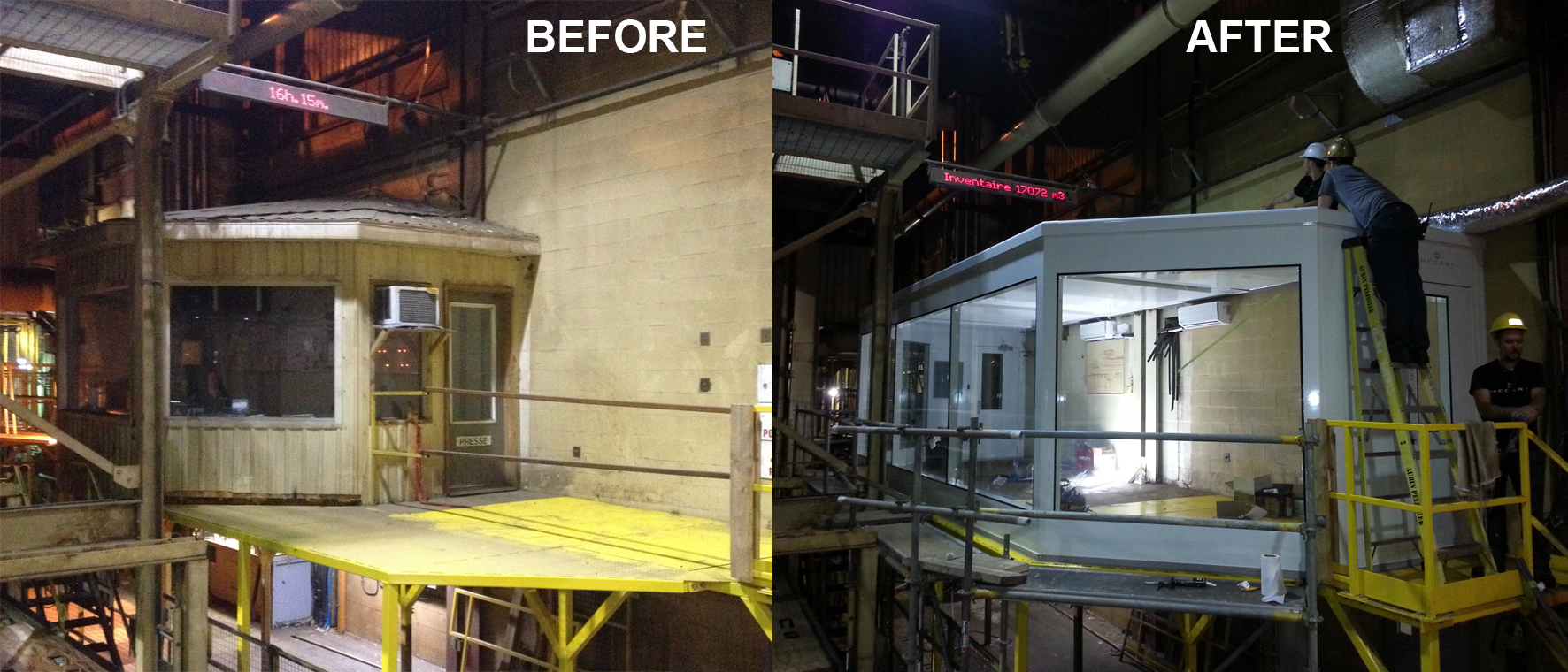 before after control room paper mill