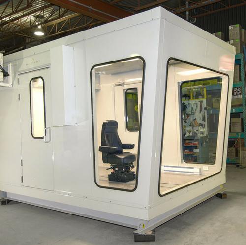 prefab operator cabin soundproofed / cabine d'opérateur préfabriqué insonorisée