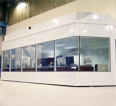 salle de contrôle insonorisée vitrée