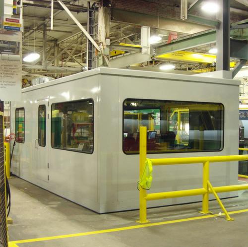 in plant modular building soundproofed / bureau usine insonorisé modulaire