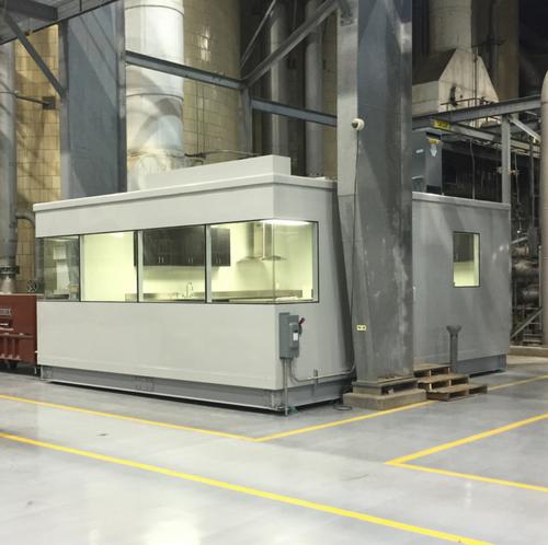 laboratoire humide modulaire insonorisé pâtes et papier / soundproofed wet lab modular pulp and paper