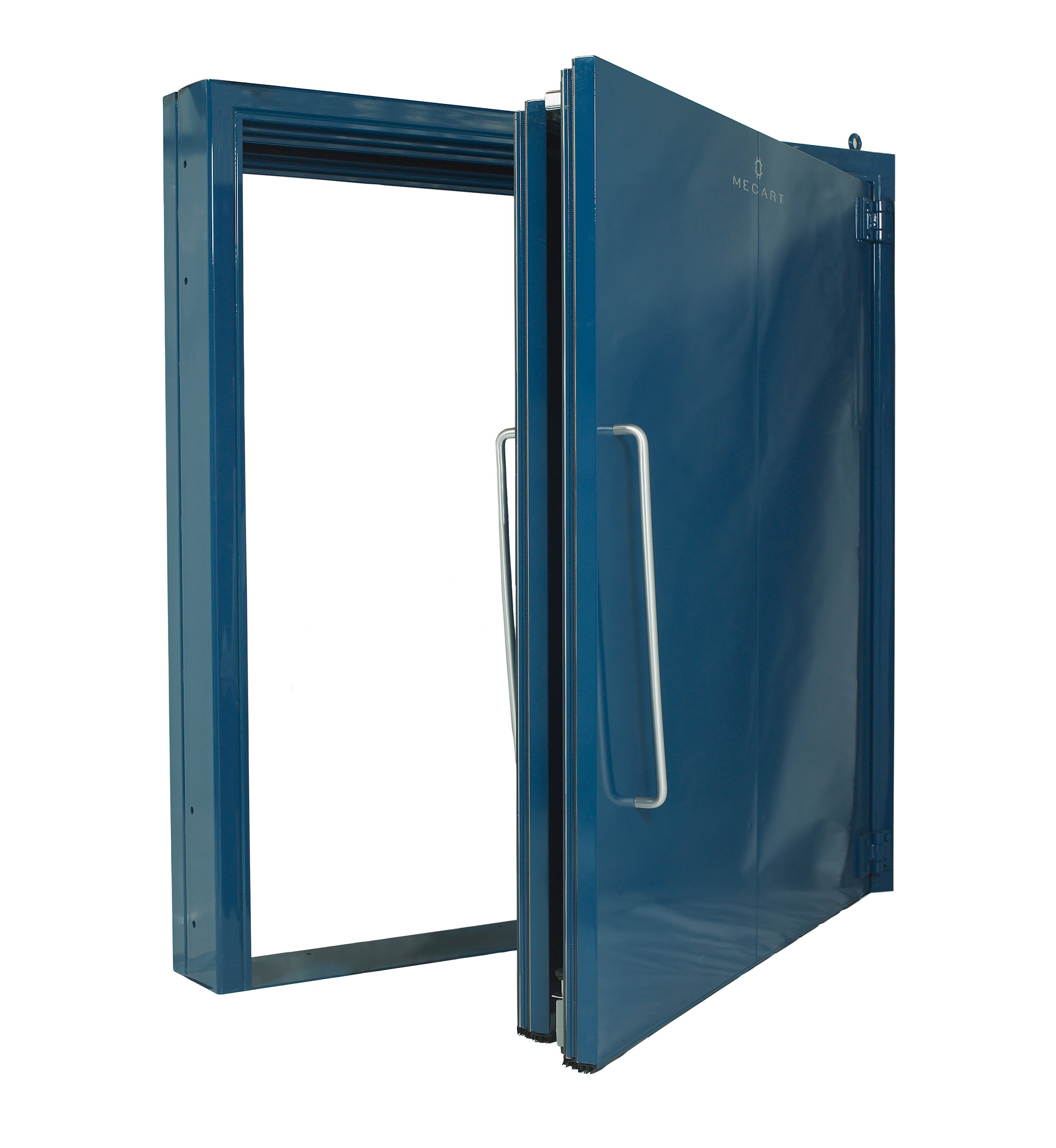 Porte acoustique en acier galvanis qualit industrielle for Porte acoustique 60 db