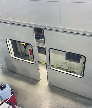 modular sound enclosure machine