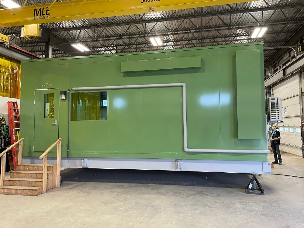 Outdoor Prefab Control Room for an Electric and Natural Gas Utility Company