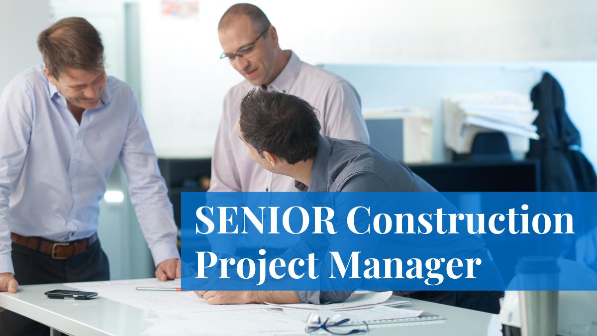senior construction project manager mecart job