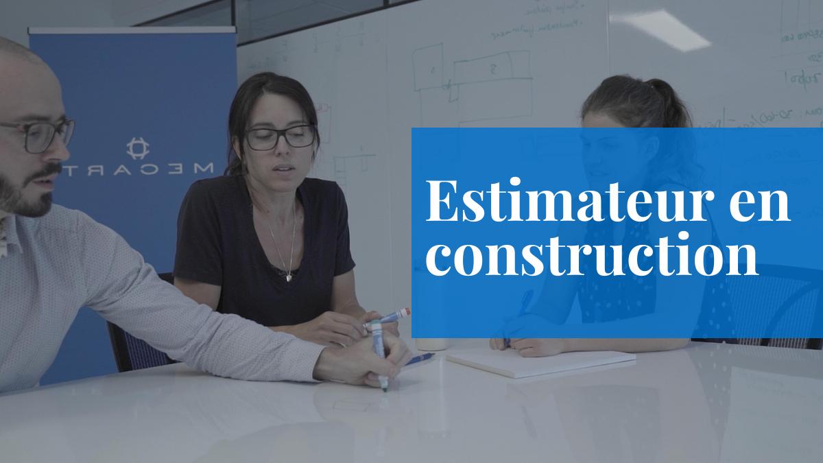 emploi mecart estimateur construction