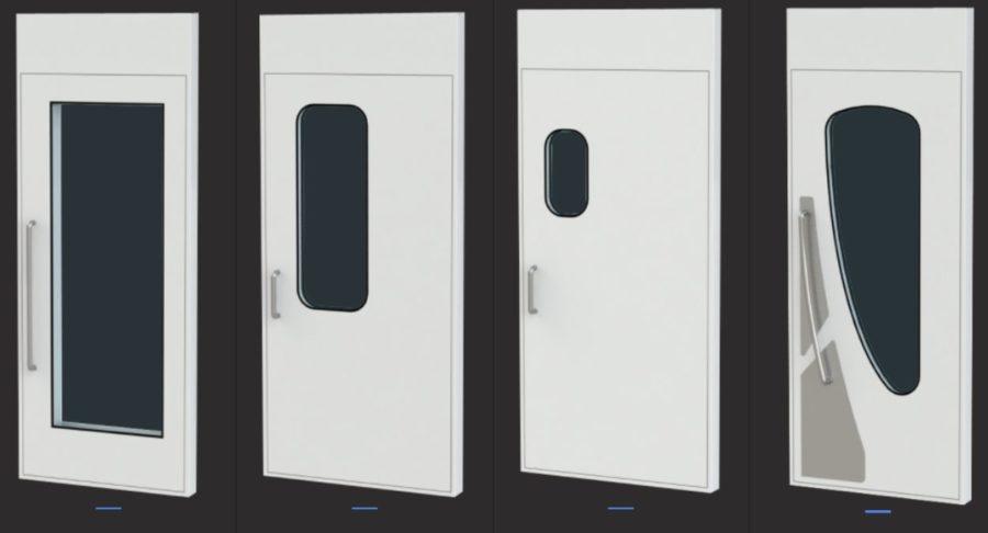 Acoustic control room doors